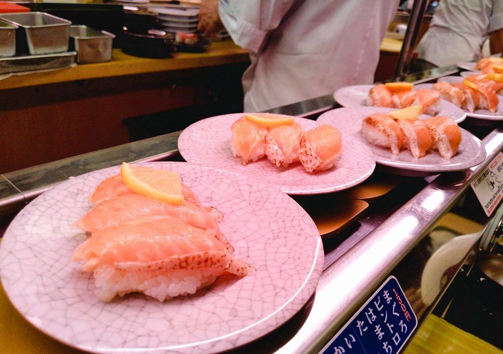 天下寿司のサーモン
