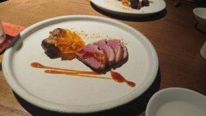 鴨と菊芋のロースト